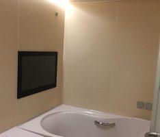 ハイバック浴槽・ウッドグレインライト鏡面パネル