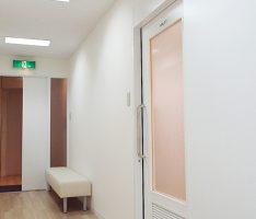 壁と同色に塗装し直した建具
