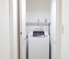 扉を開けると洗濯機