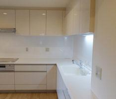 広めのL型キッチン