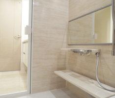 洗面所から繋がる高級感のある構成