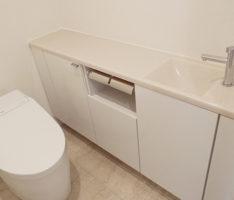 洗面一体型の手洗いカウンター